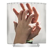 Mother And Child Linking  Shower Curtain