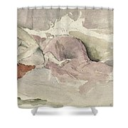 Mother And Child On A Couch Shower Curtain by James Abbott McNeill Whistler