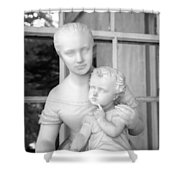 Mother And Child Statue Shower Curtain