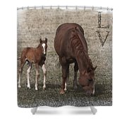 Mother And Son Love Shower Curtain