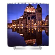 Mother Church Boston Shower Curtain