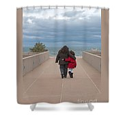 Mother Daughter Moment Shower Curtain