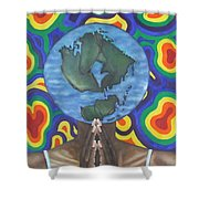 Mother Earth The Beginning Of Time Shower Curtain