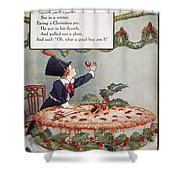 Mother Goose: Jack Horner Shower Curtain