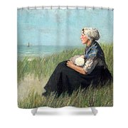 Mother In The Dunes Shower Curtain