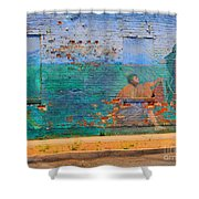 City Mural - Mother Mary Shower Curtain