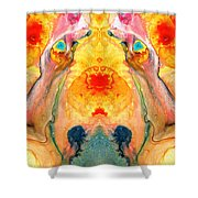Mother Nature - Abstract Goddess Art By Sharon Cummings Shower Curtain