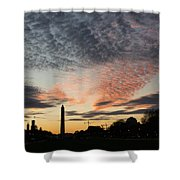 Mother Nature Painted The Sky Over Washington D C Spectacular Shower Curtain