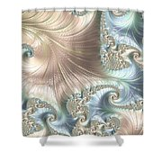 Mother Of Pearl - A Fractal Abstract Shower Curtain