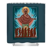 Mother Of Sacred Activism With Eichenberg's Christ Of The Breadline Shower Curtain