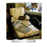 Mother's Chintz Chaise In The Corner Shower Curtain by RC deWinter