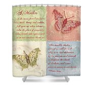 Mothers Day Butterfly Shower Curtain