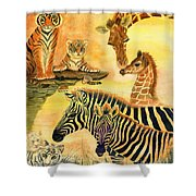 Mother's Day In The Wild Kingdom Shower Curtain