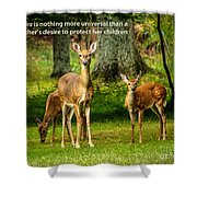 Mother's Protection Shower Curtain
