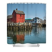 Motif #1 And The Pirate Ship Formidable Shower Curtain