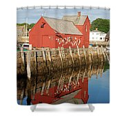 Motif 1 With Reflection Shower Curtain