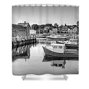 Motif Number 1 Bw Shower Curtain