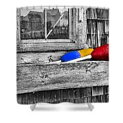Motif Number One Sunrise Reflections Bw Shower Curtain