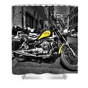 Moto Guzzi Shower Curtain