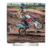 Motocross Rider Shower Curtain