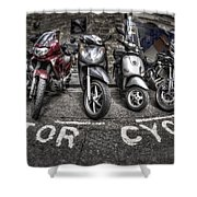 Motor Cycles Shower Curtain