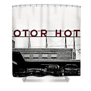 Motor Hotel Shower Curtain