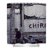 Motorbike France Shower Curtain