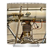 Motorcycle - 1911 Yale 4hp Shower Curtain