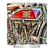 Motorcycle - 1914 Excelsior Auto Cycle Shower Curtain
