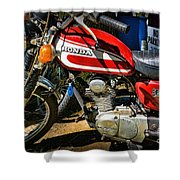 Motorcycle - 1974 Honda Cl 125 Scrambler Classic Shower Curtain