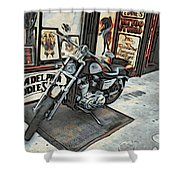 Motorcycle At Philadelphia Eddies Shower Curtain