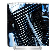 Motorcycle Engine Shower Curtain
