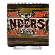Motorcycle - Henderson Gas Tank Shower Curtain