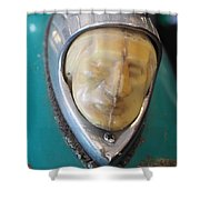 Motorcycle Medalion Shower Curtain