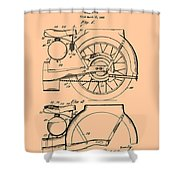 Motorcycle Patent 1925 Shower Curtain