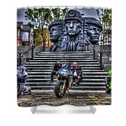 Motorcycle Rally 4 Shower Curtain