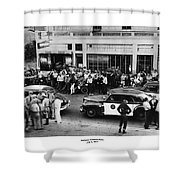 Motorcycle Rally Hollister California July 4, 1947 Shower Curtain