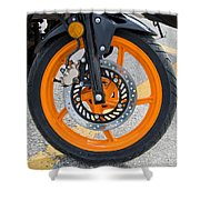 Motorcycle Wheel Shower Curtain