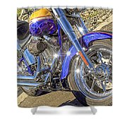 Motorcycle Without Blue Frame Shower Curtain
