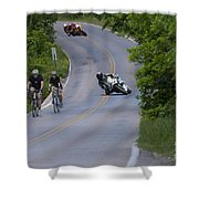 Motorcycles And Bicycles Shower Curtain