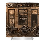 Motorcycles And Furnished Rooms Shower Curtain