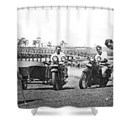 Motorcycles Set Golf Record Shower Curtain