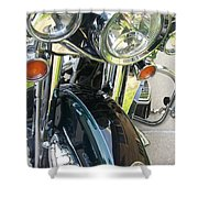 Motorcyle Classic Headlight Shower Curtain