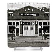 Motordrome Garage Shower Curtain