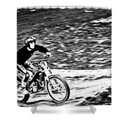 Motoring The Hills Shower Curtain