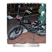 Motorized Bicycle Shower Curtain