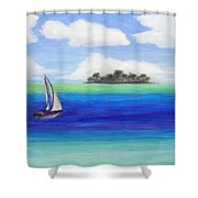 Motu Sailing Shower Curtain
