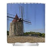 Moulin De Daudet Fontvieille France Dsc01833 Shower Curtain