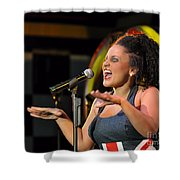 Moulin Rouge Theatre -  What A Voice Shower Curtain