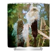 Moulting Shower Curtain